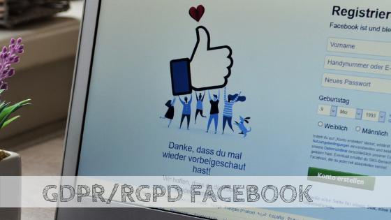 GDPR:RGPD facebook